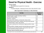 good for physical health exercise