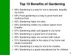 top 10 benefits of gardening