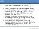 international finance facility iff