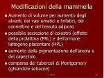 modificazioni della mammella