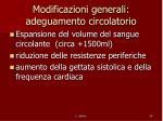 modificazioni generali adeguamento circolatorio