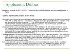 application dufour