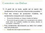 correction cas dufour