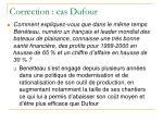 correction cas dufour10