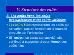 v structure des co ts