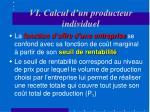 vi calcul d un producteur individuel