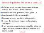 effets de la pollution de l air sur la sant 1 3