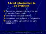 a brief introduction to co evolution