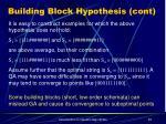 building block hypothesis cont