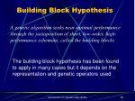 building block hypothesis