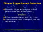 fitness proportionate selection