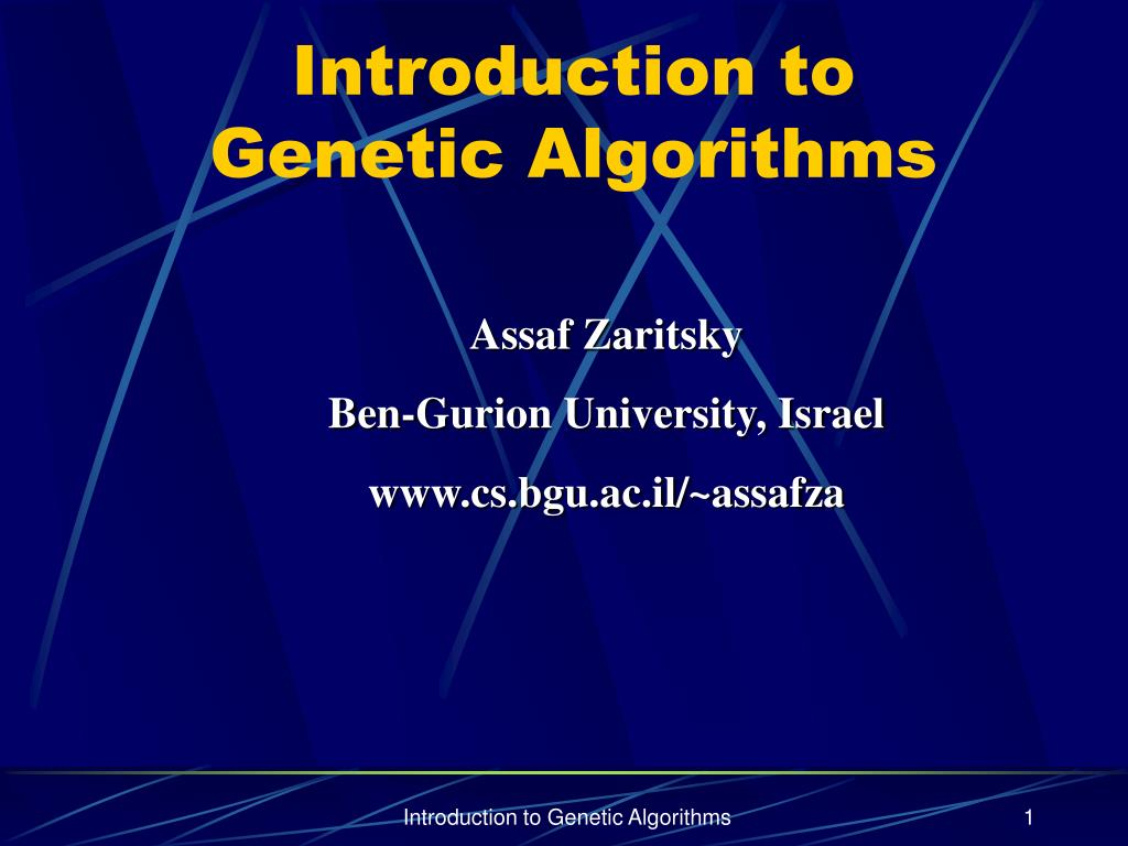 introduction to genetic algorithms l.