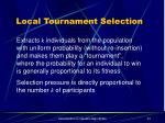 local tournament selection