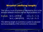 notation defining length