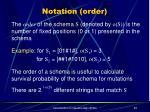 notation order