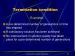 termination condition