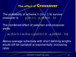 the effect of crossover