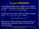 the effect of selection