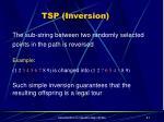 tsp inversion