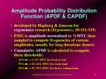 amplitude probability distribution function apdf capdf