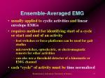 ensemble averaged emg