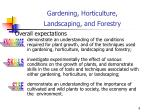 gardening horticulture landscaping and forestry
