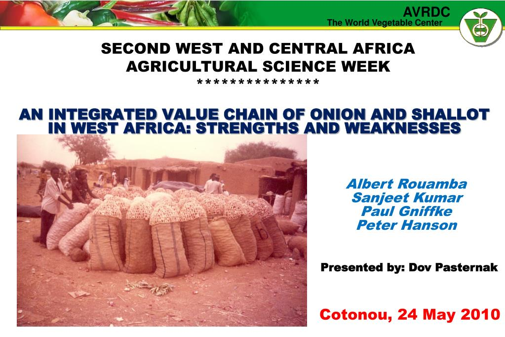 an integrated value chain of onion and shallot in west africa strengths and weaknesses l.