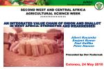 an integrated value chain of onion and shallot in west africa strengths and weaknesses