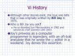 vi history
