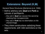 extensions beyond k m