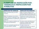 ejemplos de inspecci n por variables e inspecci n por atributos