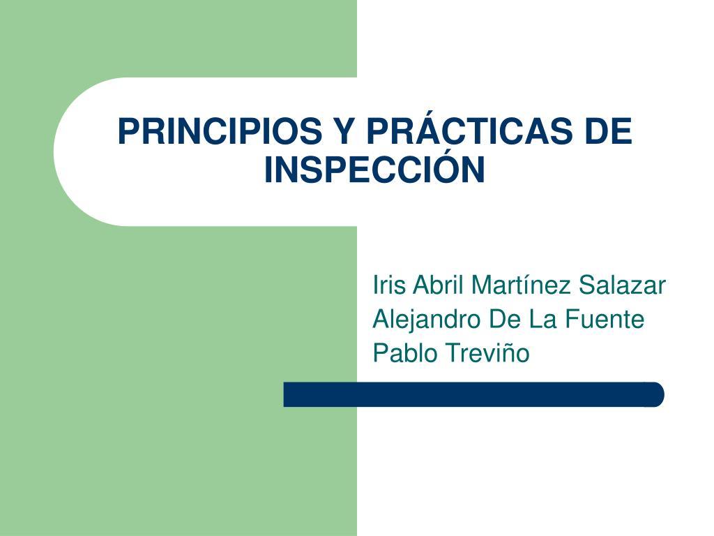 principios y pr cticas de inspecci n l.
