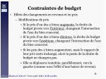 contraintes de budget32