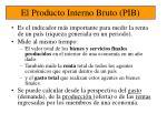 el producto interno bruto pib