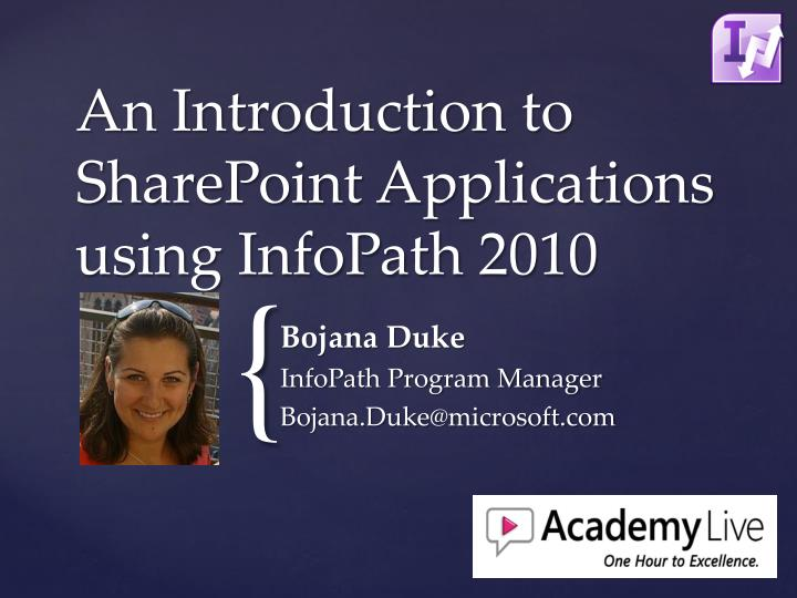 an introduction to sharepoint applications using infopath 2010 n.