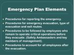 emergency plan elements