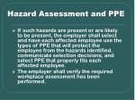 hazard assessment and ppe22
