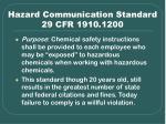 hazard communication standard 29 cfr 1910 1200
