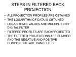 steps in filtered back projection