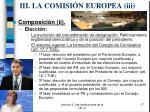 iii la comisi n europea i i i