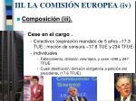 iii la comisi n europea i v