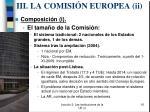 iii la comisi n europea ii