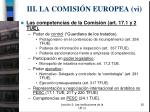 iii la comisi n europea v i