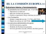iii la comisi n europea v