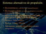 sistemas alternativos de propulsi n