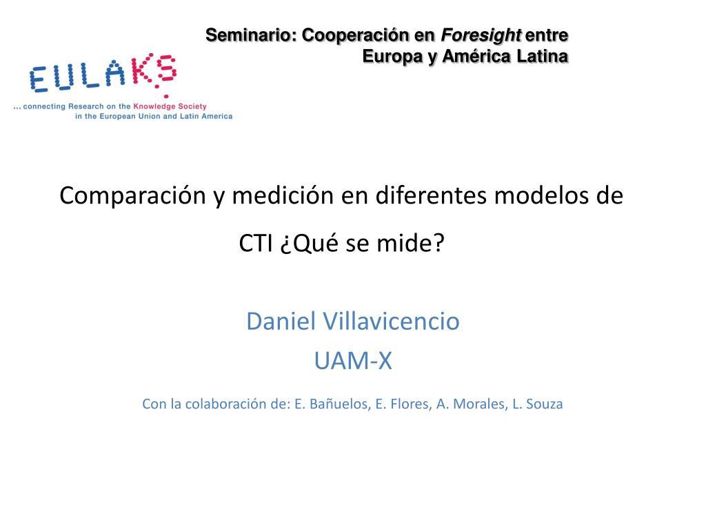 comparaci n y medici n en diferentes modelos de cti qu se mide l.