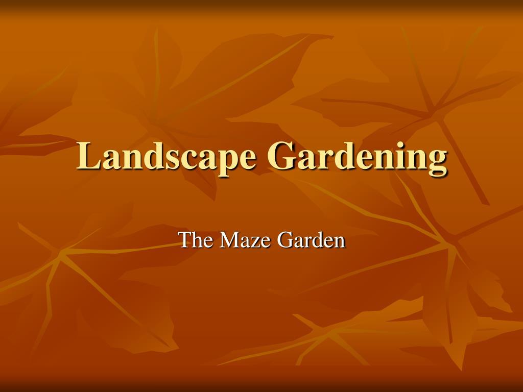 landscape gardening l.
