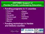 swfwmd support of florida friendly landscaping education