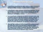 hemofiltraci n