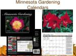 minnesota gardening calendars